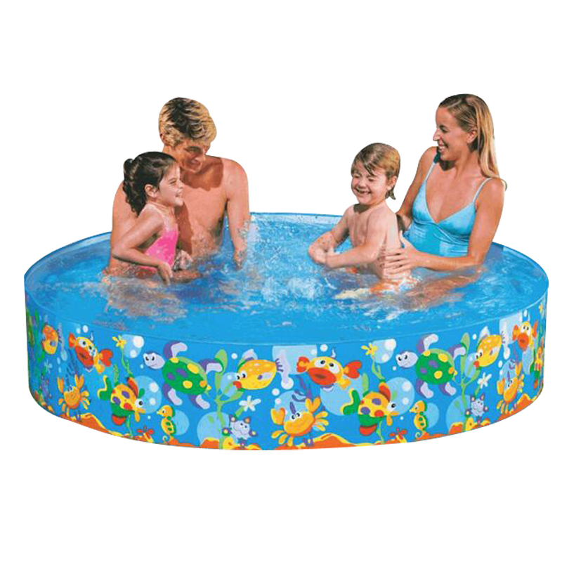 183*38cm Free inflatable round pool No air pump pool baby hard rubber plastic pool children bath free inflatable swimming pool bestway round baby pool baby wading pool thick folder mesh stent pool children bathing pool 152 38cm