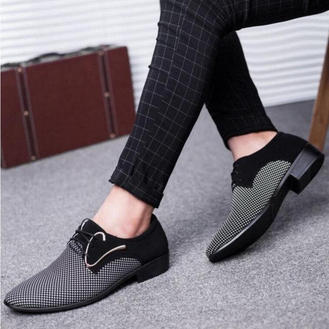 מדד המחירים לצרכן 2018 מעצב חדש אביב טלאי נעלי השמלה של אנשי עסקים hairstylis גברים נוחים נעלי נעלי שמלת כלה ZY-01 4