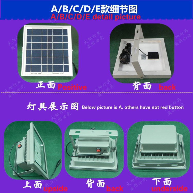 holofote Solar para quintal lamp jardim, Parque e ponte