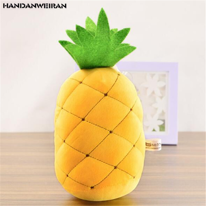 1PCS Mini Simulation Fruit Pineapple Plush Toys Creative Down Cotton Doll Stuffed Toy Children Gift Company Event Giveaway 20CM image