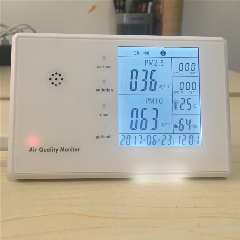 Indoor Air Quality PM2.5 Monitor Meter Temperature RH Humidity 0 2000ppm range wall mount indoor air quality temperature rh carbon dioxide co2 monitor digital meter sensor controller