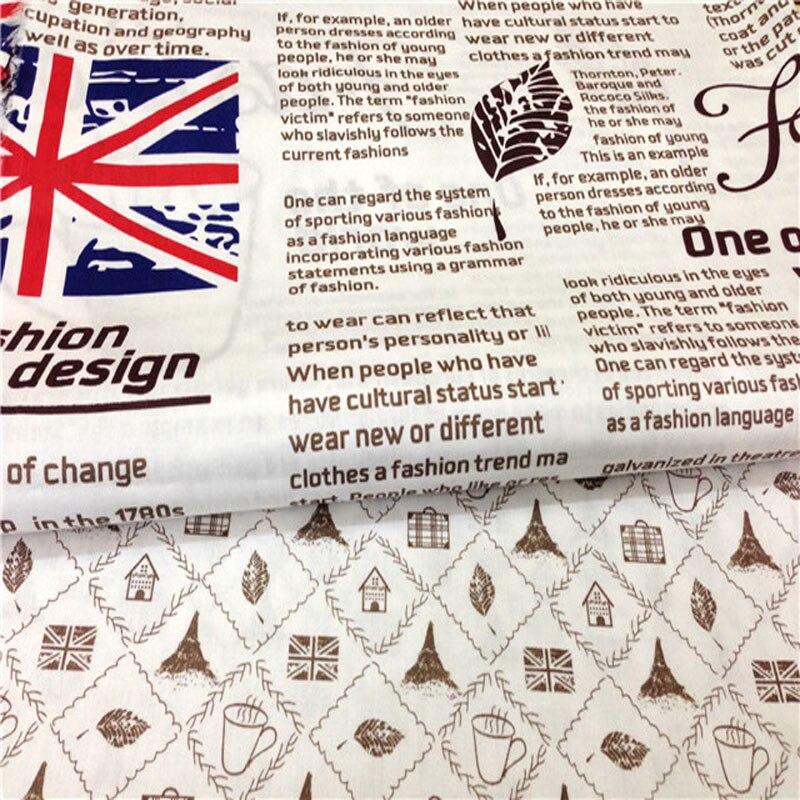 50x160 cm Vintage marca Carta inglés periódico y patrones cuadrados ...
