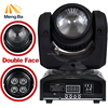 Double Sides LED 1x10w RGBW 4x10w RGBW Beam Wash Light DMX512 Moving Head Light Professional DJ