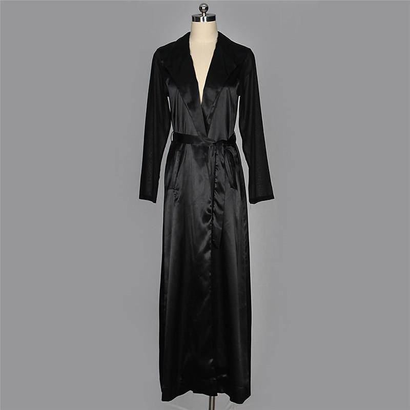 autumn chiffon sleeve long trench outwear-13