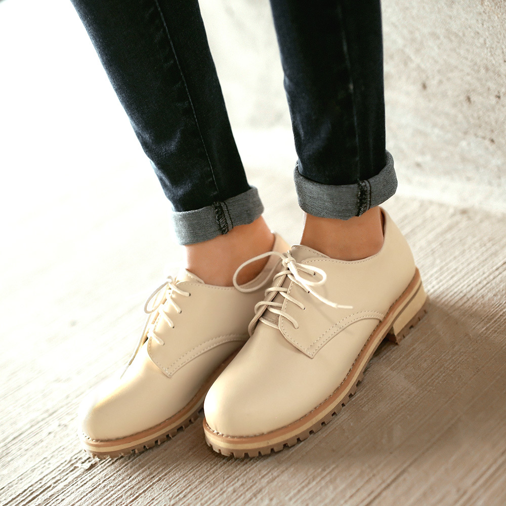 Aliexpress.com : Buy 2015 NewMartin shoes Women Solid Lace Up ...