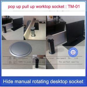 Image 4 - Pop UP/Çalışma masa soketi/gizli/Evrensel priz/AB tak/USB Şarj ofis masaüstü soketi/ mutfak soketi TM 01