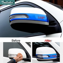 цена на Tonlinker Cover Case Sticker for Toyota PRADO 2014-16 Car Styling 2 PCS stainless steel Reversing rearview mirror cover stickers