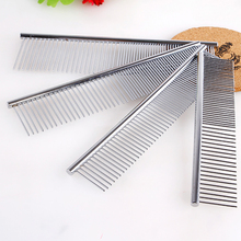 1 pcs M L XL size Pet row comb stainless steel semi sparse semi-intensive fashion special dog cat hair removal beauty clean