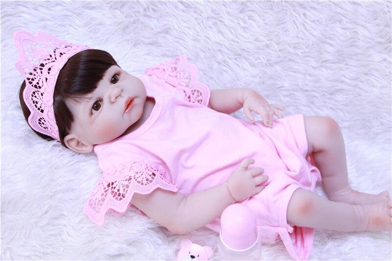 Полный Средства ухода за кожей силикона возрождается младенцев Детские игрушки куклы Reborn розовая принцесса куклы для детей подарок на день рождения подарок прекрасный Обувь для девочек Brinquedos - 6