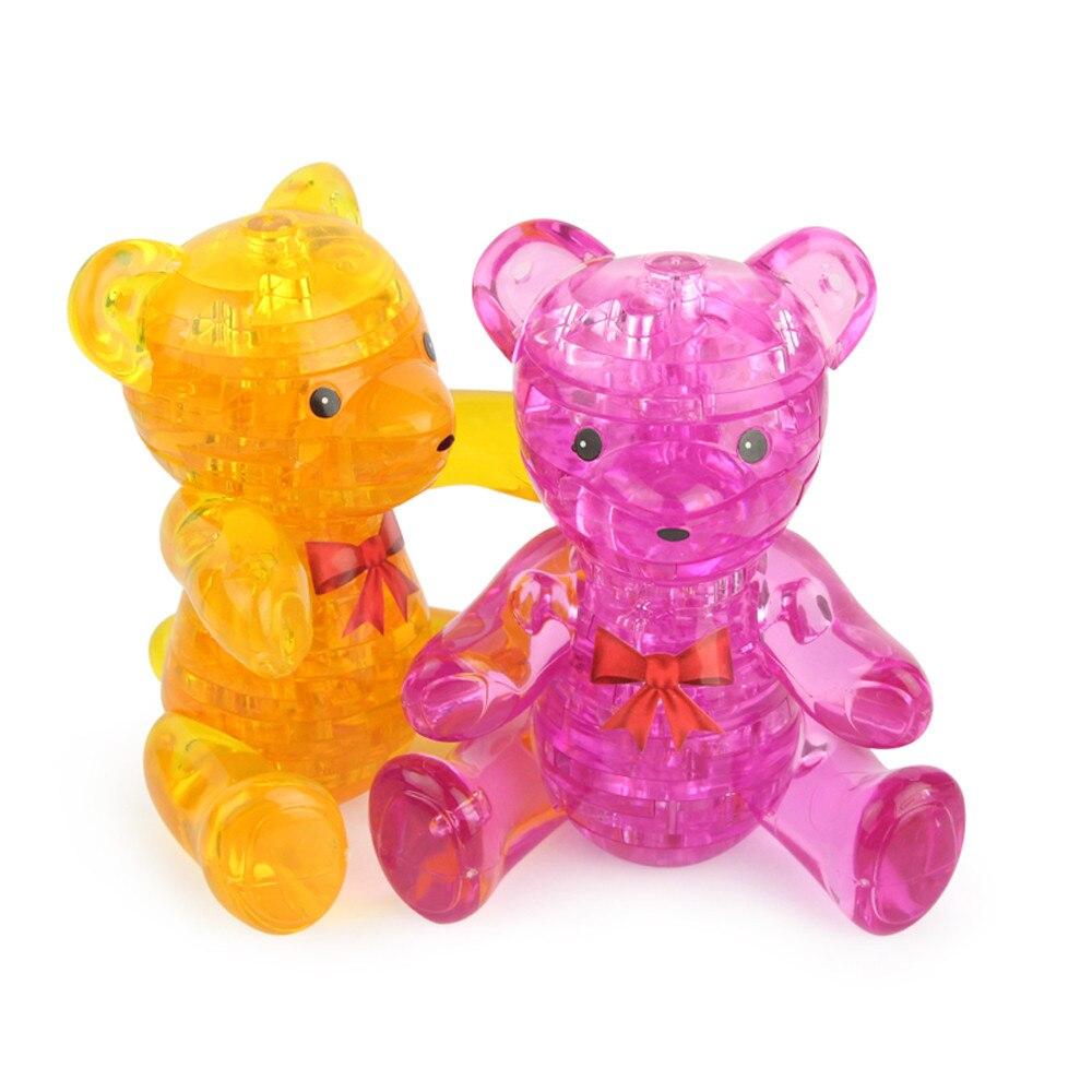 3D Crystal Puzzle Cute Bear Модель DIY гаджет Конструкторы строительство игрушка в подарок игрушка образования Игрушки для маленьких детей и игры для де...