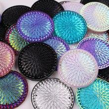 35 мм круглые камни из смолы для работы с бусинами, стразы с 2 отверстиями, 20 шт./лот
