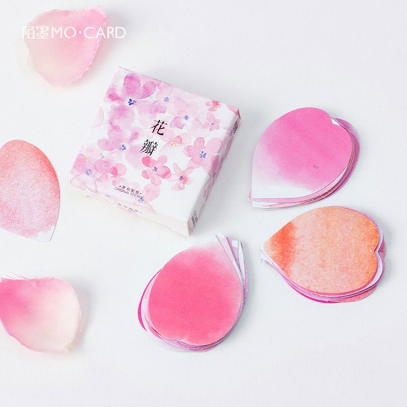 45 pcs/box  Kawaii pink petals paper sticker decoration DIY diary scrapbooking sticker childrens favorite stationery