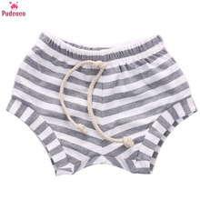Infant Newborn Striped Shorts Baby Boy Girl Baggy Bloomers Bottoms PP Pants Summer Elastic Waist Diaper Cover 3M-4Y