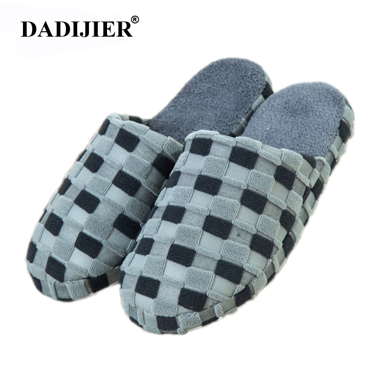2018 New Autumn and Winter Warm Men slippers Cotton-padded Lovers at house Family Home Slippers indoor shoes ST303 new autumn and winter warm men and women cotton padded lovers at house home slippers indoor shoes