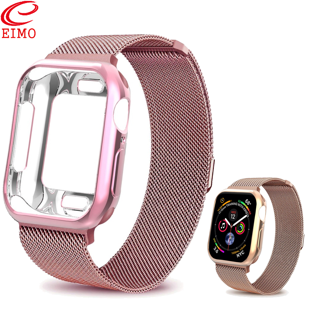 EIMO Protective case+strap For Apple Watch 4 iwatch band 42mm 38mm 44/40mm watch correa Accessories bracelet for apple watch 3 2EIMO Protective case+strap For Apple Watch 4 iwatch band 42mm 38mm 44/40mm watch correa Accessories bracelet for apple watch 3 2