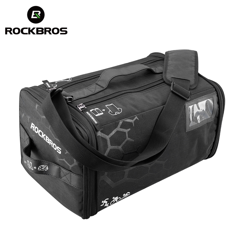 ROCKBROS Waterproof Sports Bag Training Gym Bags High Capacity Triathlon Bags Backpack With Rain Cover Outdoor