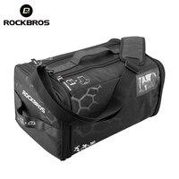 ROCKBROS Waterproof Sports Bag Training Gym Bags High Capacity Triathlon Bags Backpack With Rain Cover Outdoor Fitness Handbag