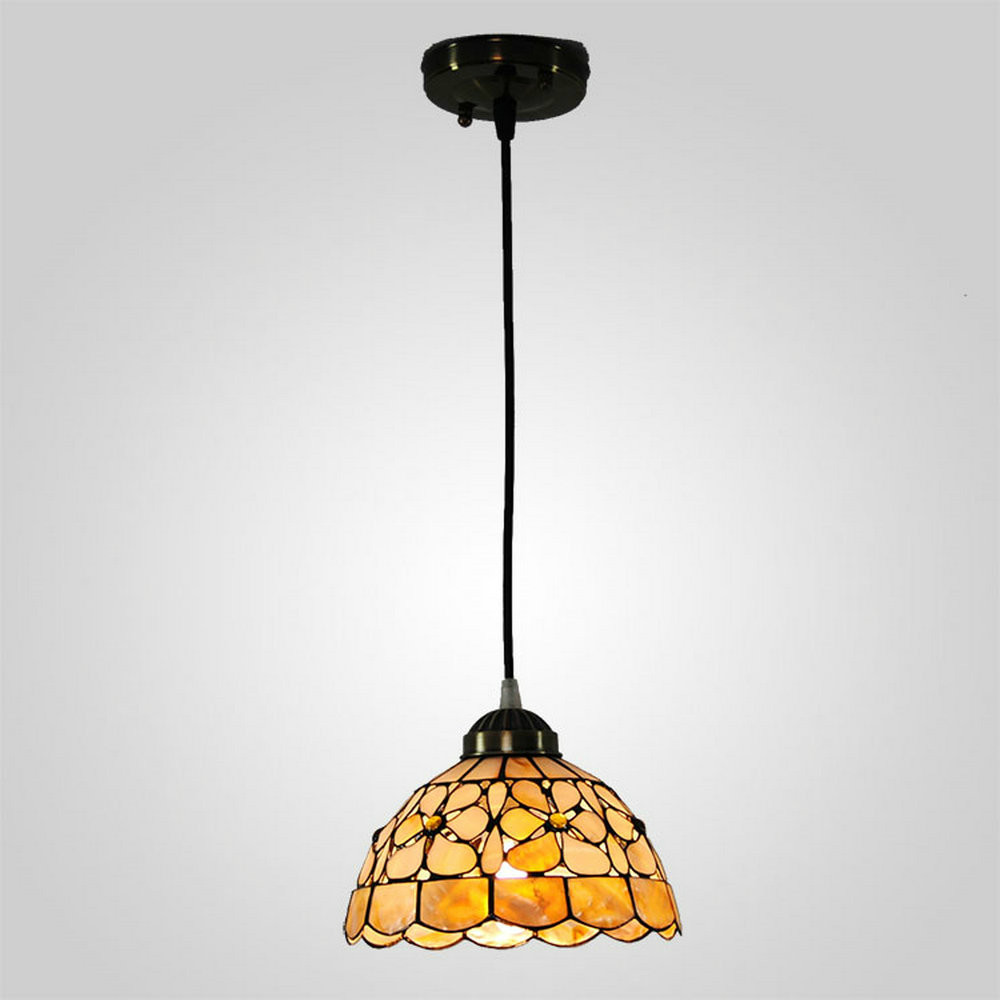 ФОТО MAMEI Free Shipping Indoor 8 Inch Tiffany Shell Light Fixtures Height Adjustable E27/E26 40W 110-240V Voltage Is Available