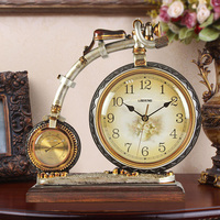 Tuda Free Shipping European Style Retro Table Clock Creative Personality Fashion Large Desk Clock Home Decor Table Clock
