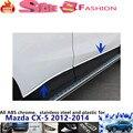 Mazda CX-5 CX5 2012 2013 2014 tampa do carro detector inoxidável aço Porta do Lado inferior Do Corpo guarnição Tira vara lâmpada Moldagem 4 pcs