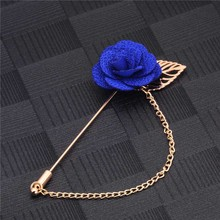 Rose-Flower-Brooch Wedding-Chain Coat Jewelry Pin Collar Women for Suits Winter Gold