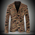 2016 printing blazer jacket autumn winter fashion men's popular Korean cultivating personality prom trend  outerwear only