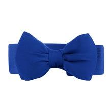 Bowknot Elastic Wide Waist Belt