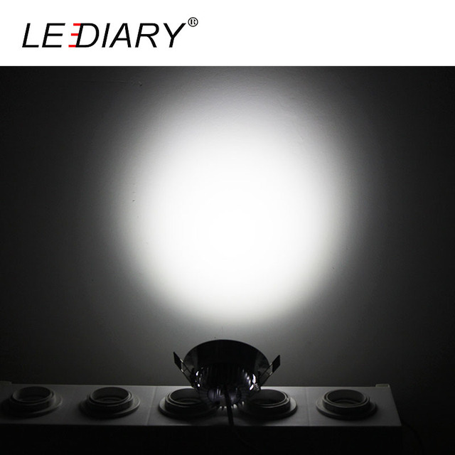 110v 3w 55mm Cut-Out Hole Angle Adjustable Round Recessed Led Downlight with Led Driver,Warm White 3000k LEDIARY 6 Packs Downlighters