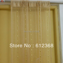 """6 Colors New """"Dew Drop"""" Beaded Fly Insect Panel Room Divider Hanging String Door Curtain Strip Tasse Screen-Pale Gold"""
