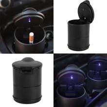 Portable Auto Car LED Cigarette Smoke car Ashtray Blue Light Smokeless Holder Anti-slip Rubber For BMW