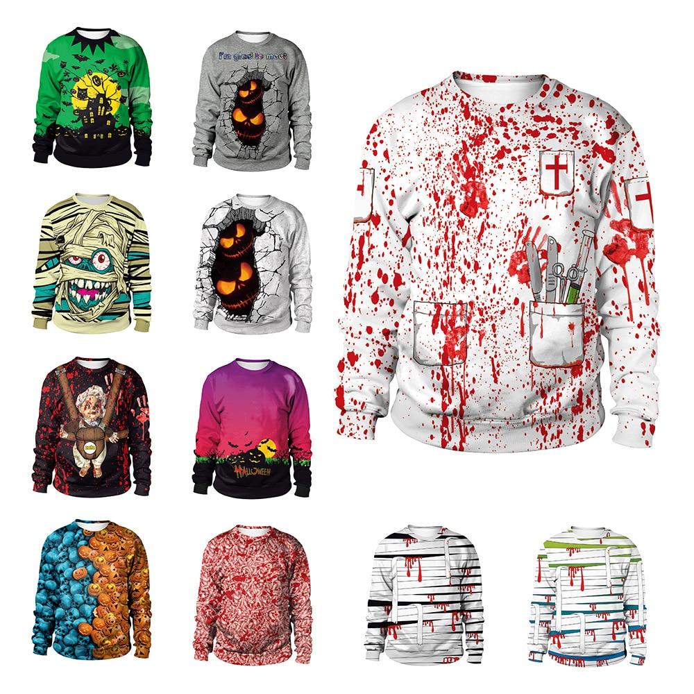 The Nightmare Before Christmas Sweatshirt Halloween Sweatshirt Unisex Realistic 3D Digital Print Novelty Cool Funny Sweatshirt