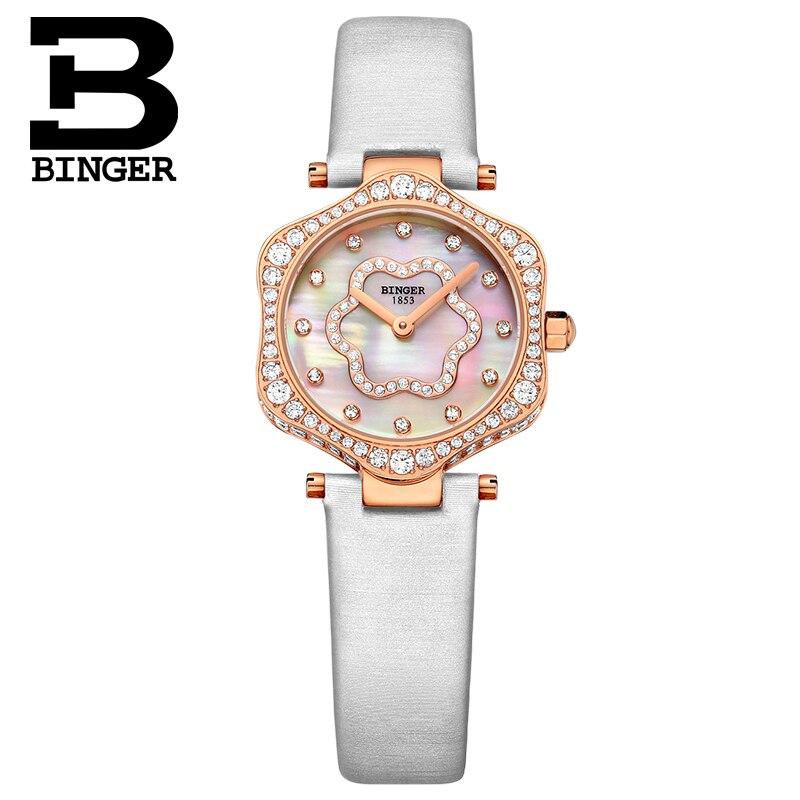 2018 schweiz BINGER Frauen Uhren Luxus Marke Quarz Wasserdichte Uhr Frau Sapphire Armbanduhren relogio feminino B1150 7 - 2