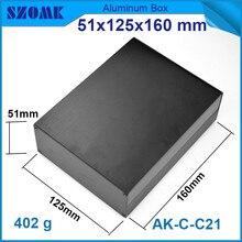 1 estuche de instrumento de aluminio para caja de proyecto electrónica en negro con cepillado 51*125*160mm