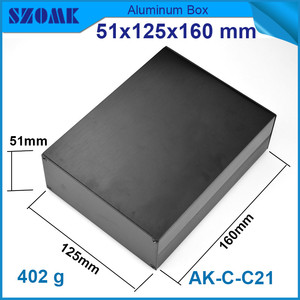 Image 1 - 1 piece aluminum instrument case for electronic project box in black with brushed 51*125*160mm