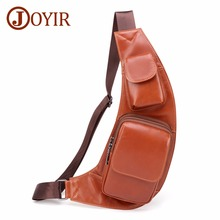 JOYIR Men's Chest Bag Genuine Leather Cowhide Vintage Shoulder Messenger Crossbody Bags for Men Casual Travel Sling Chest Back недорого