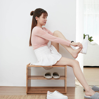 Стойка для обуви 2 Галстука шкафчик для обуви стул для смены обуви домашняя мебель