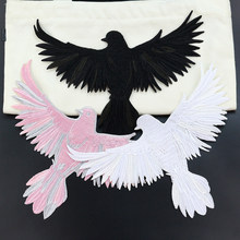 Eagle borduurwerk dier stickers vogel applique naaien jas diy craft lron op transfers voor kleding reparatie patches kledingstuk doek(China)