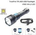 USB flashlight TrustFire TR-JIE8 XM-L2 1200LM LED Flashlight  JIE8 3 mode Climbing torch + USB Charging Port Tactical Torch