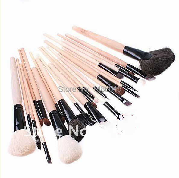 Premium Synthetic  HOT Sale Professional 24 pcs Makeup Brush Set tools Make-up Toiletry Kit Wool Brand Make Up Brush Set Case hot sale professional 24 pcs makeup brush set tools make up toiletry kit wool brand make up brush set cosmetic brush case