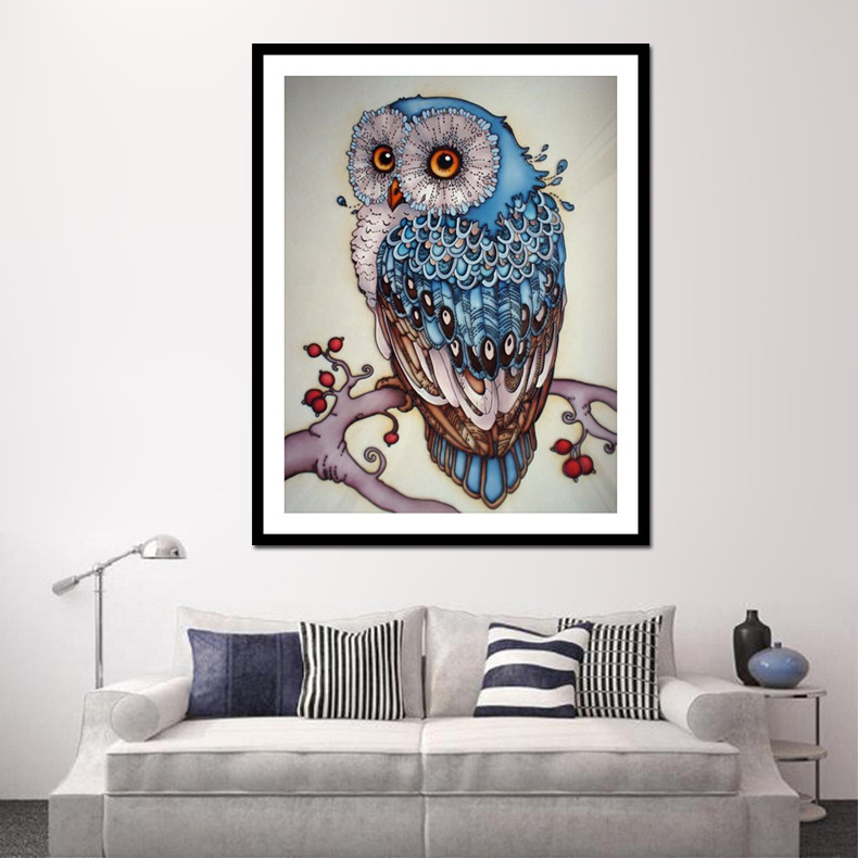 Hoomall 5D DIY Owl Diamond Embroidery Sale Painting Full Round Cross Stitch Pictures of Rhinestones Mosaic Christmas Home Decor