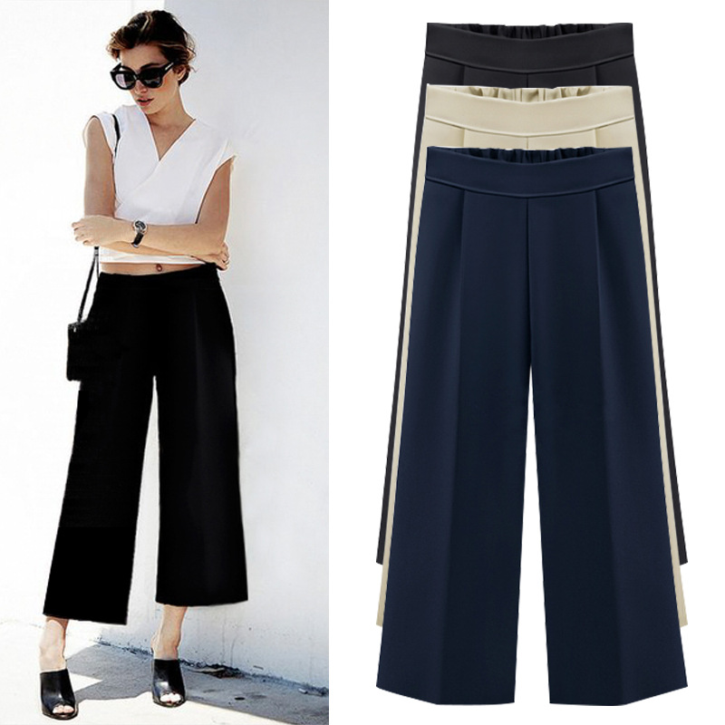 2019 Summer   Wide     Leg     Pants   Plus Size 6XL Women   Pants   High Waist   Pants   Laidies Loose Straight Casual   Pants