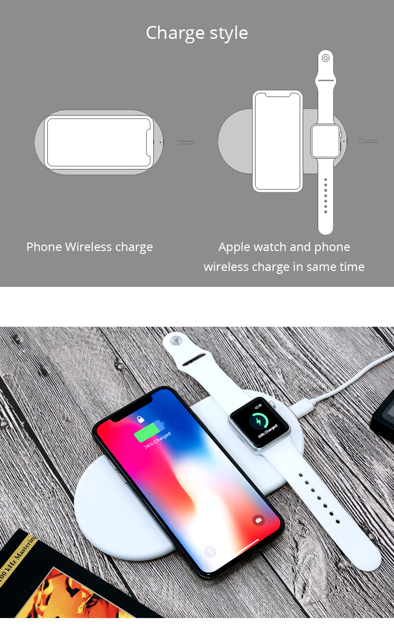 2 in 1 Wireless Charge Pad For Iphone X Iphone 8 Samsung S9 Samsung S8 DIY Disassemble Apple Watch wireless Charge Pads (18)