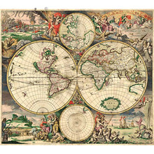 Michelangelo Wooden Jigsaw Puzzles 500 Pieces Map of the World in Year 1689 Educational Toy Decorative Painting Collection Gift michelangelo wooden jigsaw puzzles 500 1000 1500 2000 pieces old master lotus flower mandarin duck shen quan art educational toy