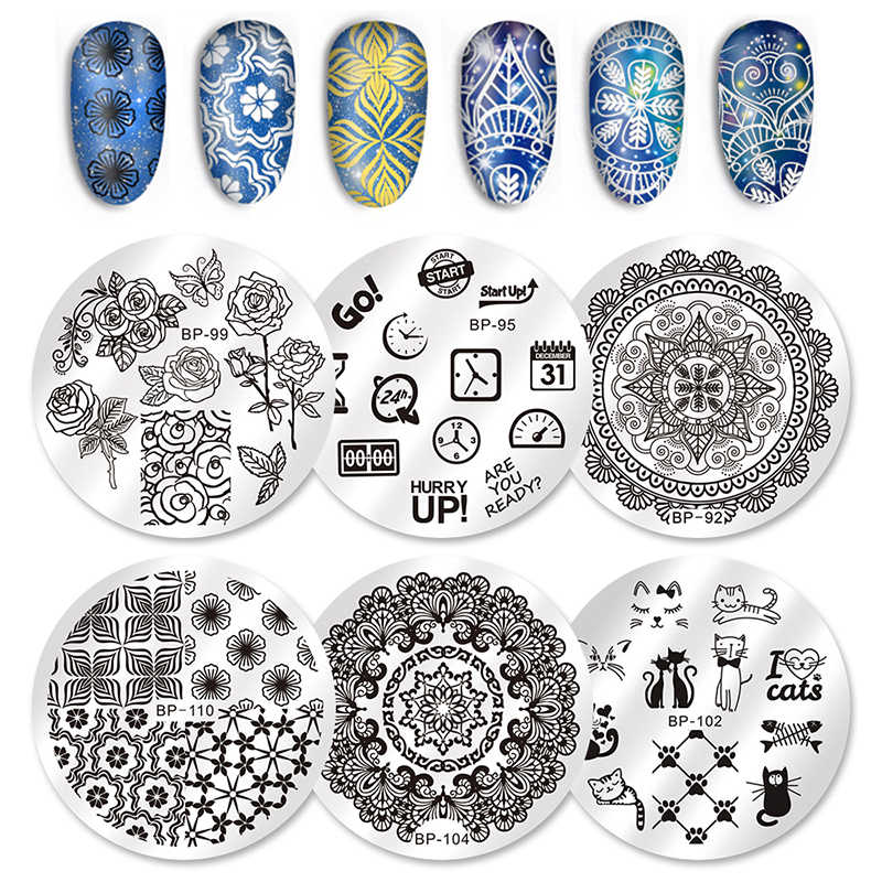 Born Pretty Rectangle Stamping Plate Letters Design 12 6cm Nail