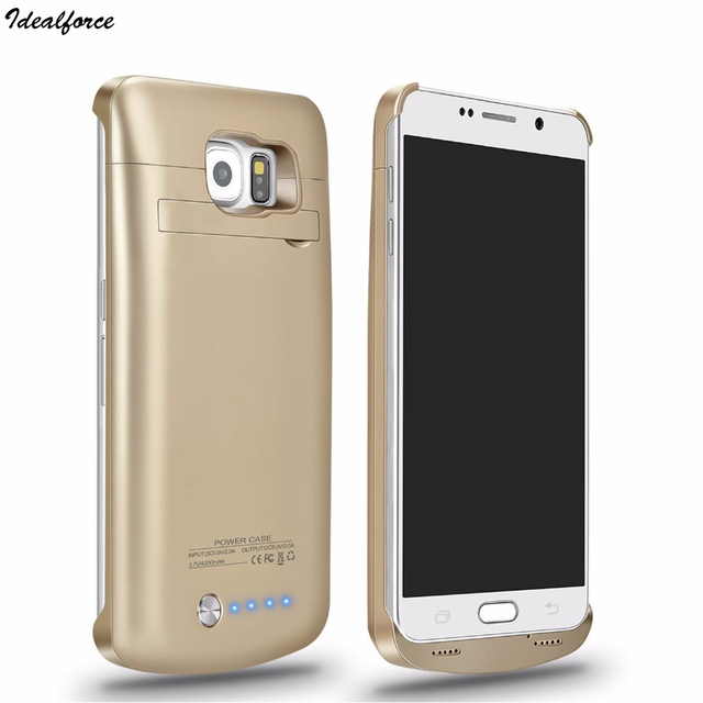best sneakers 0df08 c71e6 US $17.09 |FOR Galaxy S6 Battery Case 4200mAh Battery Portable Charger  Protective Charging Case Pack Power Bank Cover for Samsung S6 edge-in  Battery ...
