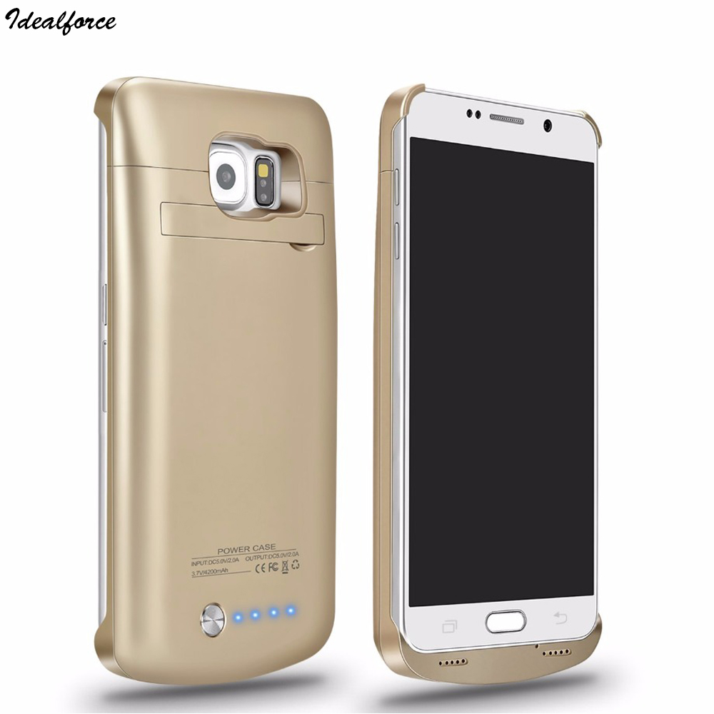 FOR Galaxy S6 Battery Case 4200mAh Battery Portable Charger Protective Charging Case Pack Power Bank Cover for Samsung S6 edge