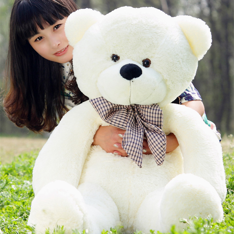 1PC 160cm Teddy Bear Plush Toys Soft Outer Skin and Bear Coat Holiday Gift Birthday Gift Valentine Brinquedos Stuffed Animals new 1pc 60cm stuffed plush toy holding love heart big plush teddy bear 2 colors soft gift valentine day birthday girl s gift