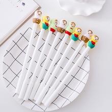 Jonvon Satone 30 Pcs Creative Cartoon Cute Color Doll Pen Gel Stationery Black Full Needle School Tools Wholesale