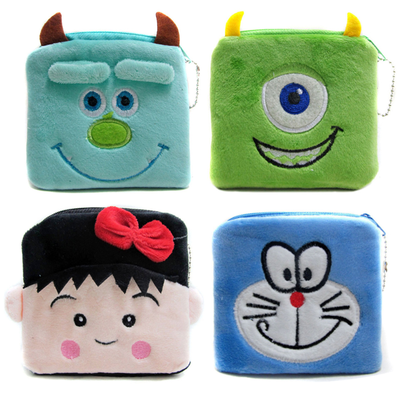 2016 Lovely Gift Cartoon Coin Purses Kids Cute Character Wallets Women Mini Money Pouch Storage Purses Bag
