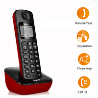 DECT6.0 Cordless Phone WithMute Call ID Wireless Landline Telephone With One Two Handsets